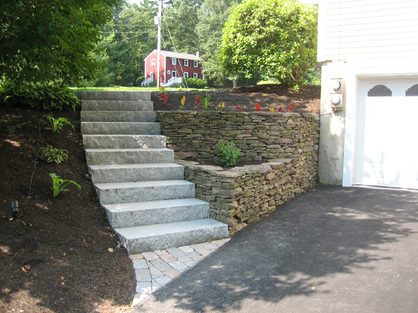 Outdoor stairs and stone steps for front & back yard ... on Backyard Patio Steps  id=39384