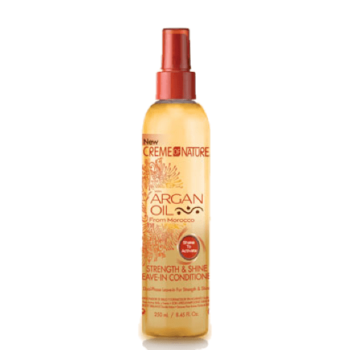 CREME OF NATURE Argan Oil – Soin sans Rinçage Force et Brillance, 250 ml