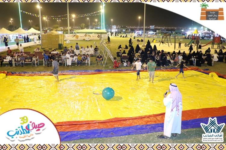 """تغطية اليوم الثامن والأربعين لفعاليات #صيف_المذنب39 """" تحدي الألعاب المائية """""""