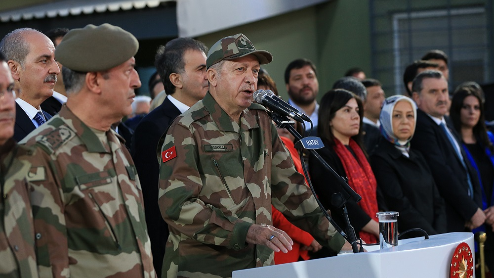 أردوغان يعلن بدء العملية العسكرية شرق الفرات