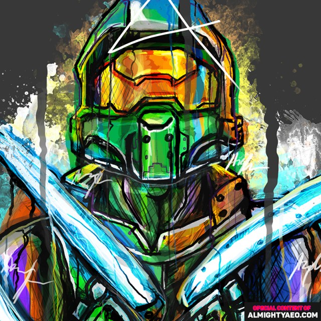 painting of masterchief by almighty aeophex