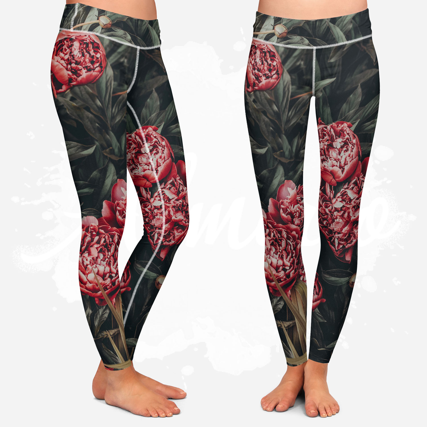 Leggings for women, Almirio, Dark Rose, yoga style
