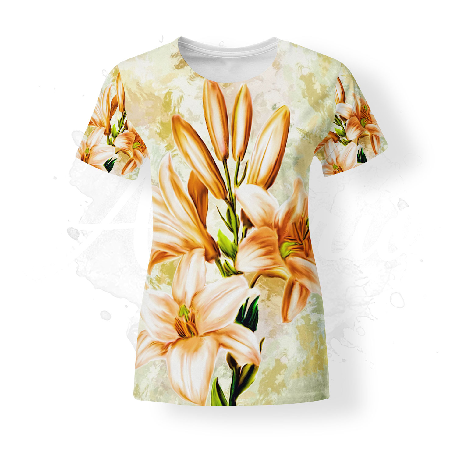 T-shirt for women, Almirio, Lily, flowers