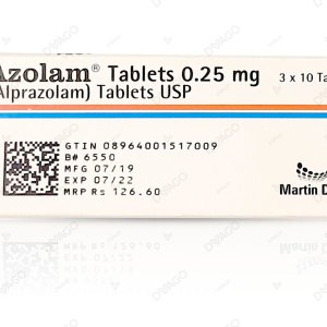Azolam 0.25mg Tablet