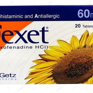 Fexet 60mg Tablet