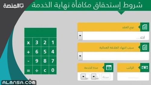 حساب نهاية الخدمة في القطاع الخاص السعودية