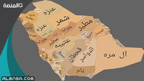 اسماء شيوخ القبائل السعودية