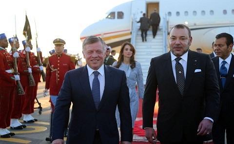برقية تهنئة إلى الملك محمد السادس من العاهل الأردني بمناسبة عيد الفطر
