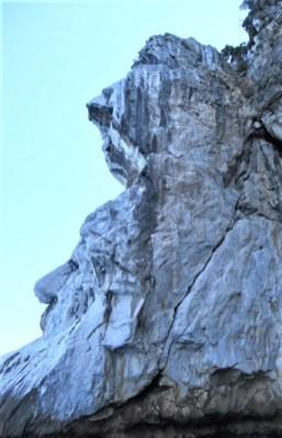 formațiune stâncoasă cap de bărbat Fakitsra Pelion