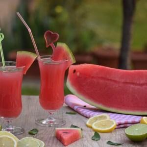 Smoothie din pepene roșu la Pensiunea Dimineți Fericite