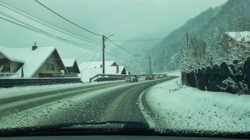 Peisaj de iarnă pe Valea Prahovei
