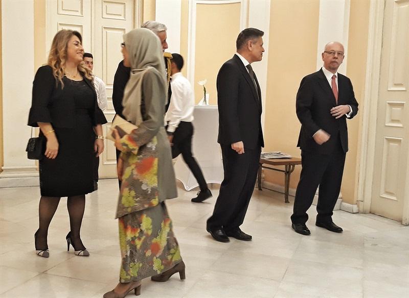 recepție la ambasadă - primirea oaspeților