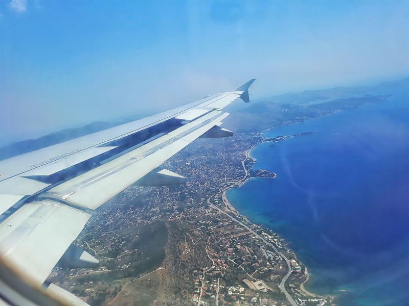 călătoria în Grecia cu avionul