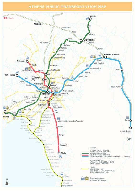 metrou Atena harta