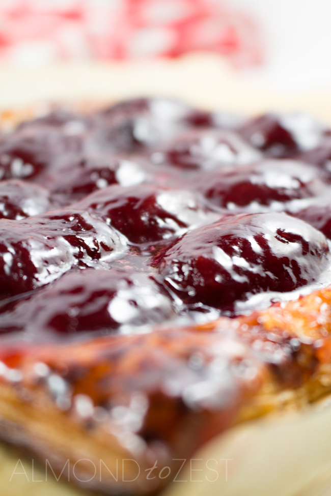Doris's Tart - Light, flaky and golden pastry with sharp, sweet and tart plums! This is a very easy, rich and decadent tart that will tame your sweet tooth!!