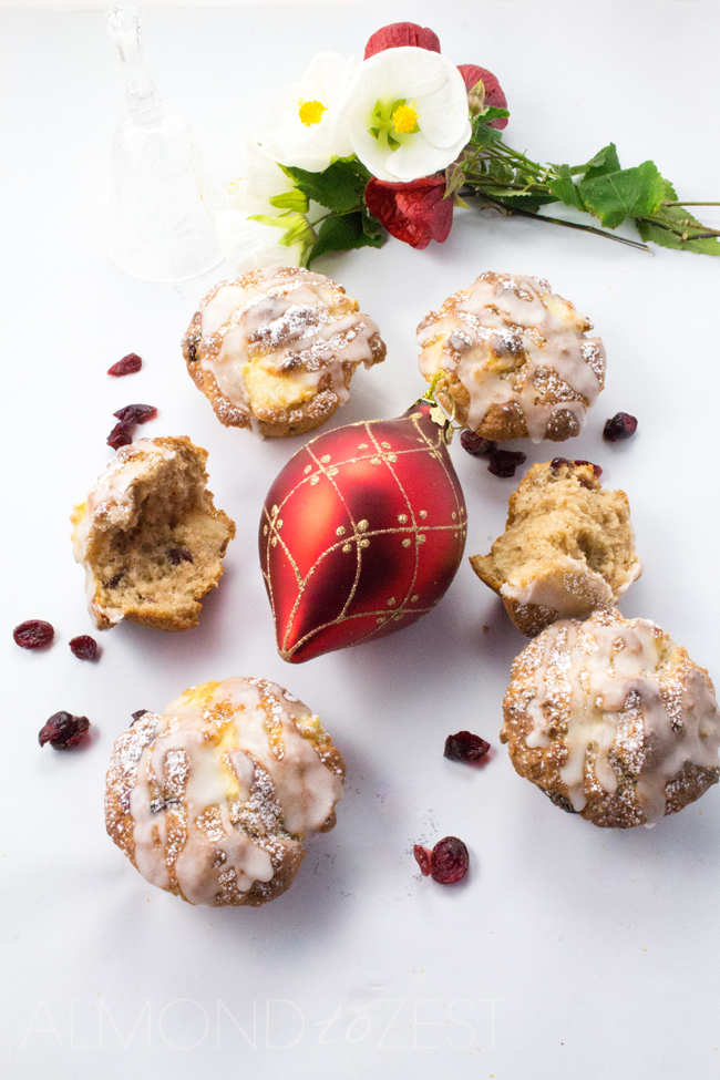 Packed full of apple chunks and bursting with dried cranberries in every bite, you are going to love these healthy Christmas flavored muffins! SOOOO GOOD!!