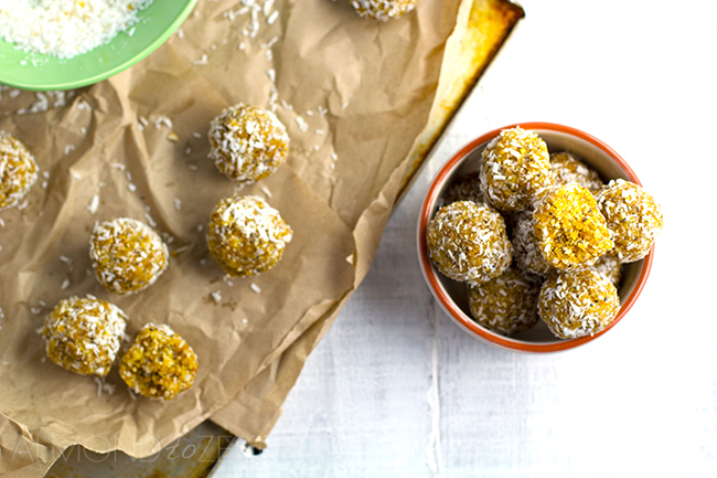 Apricot, Coconut and Chia Seed Bliss Balls