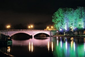Workman Bridge at Night by Jeanette Cook