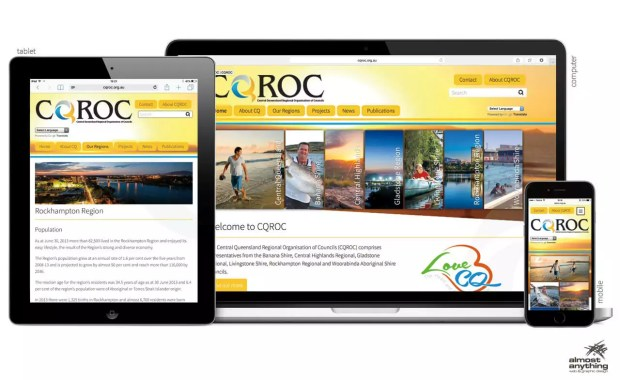 CQROC website screenshots