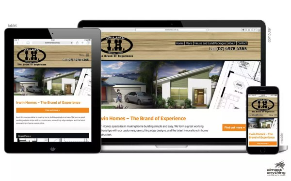 New website for Irwin Homes in Gladstone