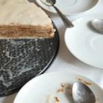 Buckwheat Crepe Cake with Chocolate Avocado Filling and Hazelnut 'Cream'