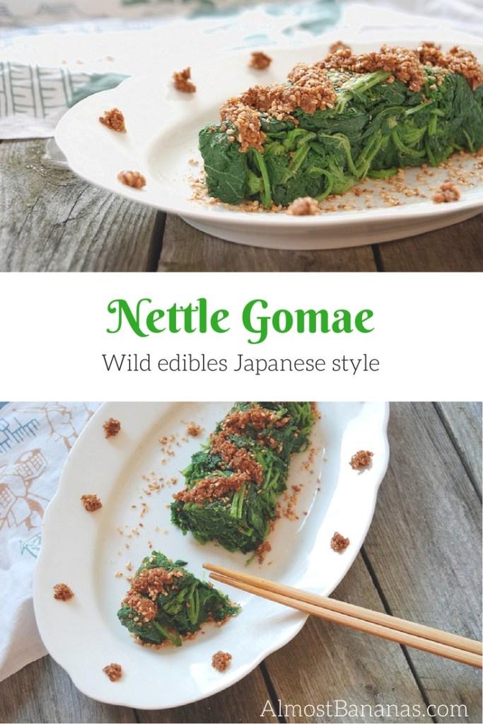 Nettle Gomae: eat wild edibles Japanese style!