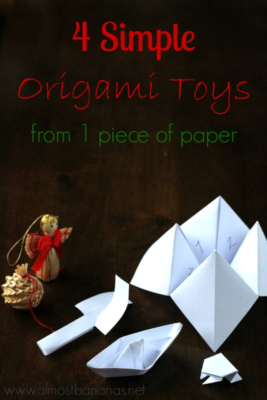 4 Origami Toys from 1 piece of paper