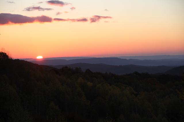 rising sun in central slovakia