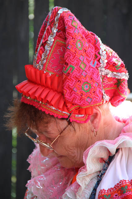 A Slovak woman from Helpa in traditional costume