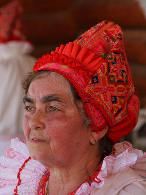 A Slovak woman in kroj