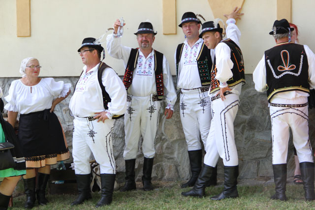 Slovak men in folk costume