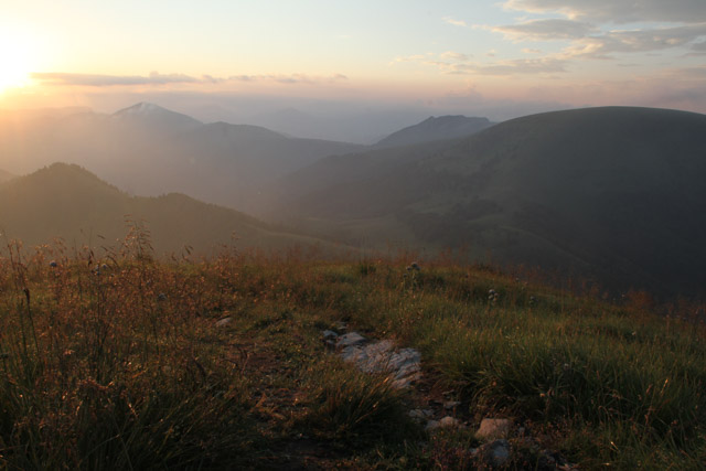 Sunrise from the top of Borišov
