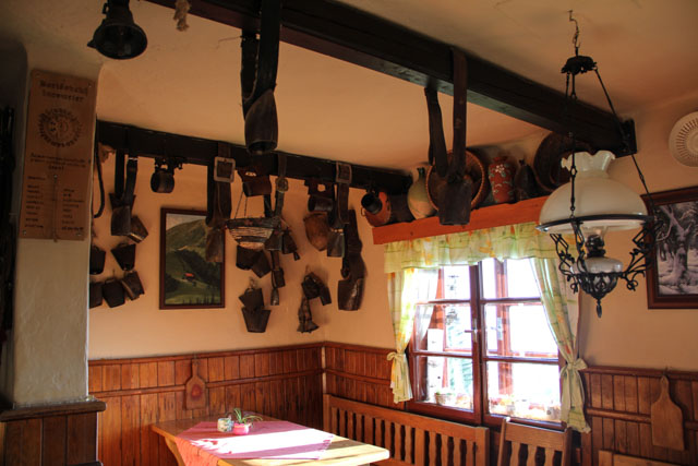 Dining room in Chata pod Borisovom, Slovakia