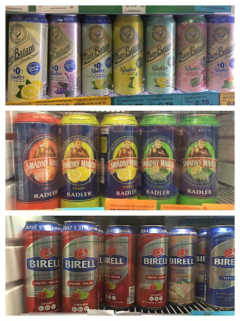 different kinds of radlers in store