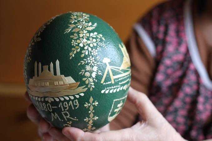 Ostrich Easter egg