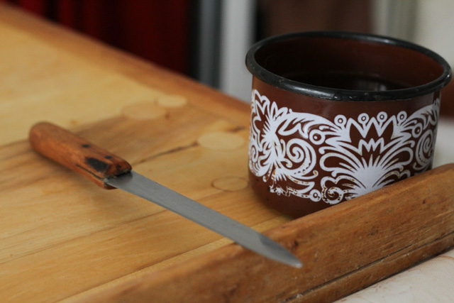 cup and knife