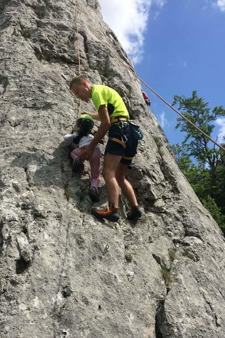 Climbing with tato