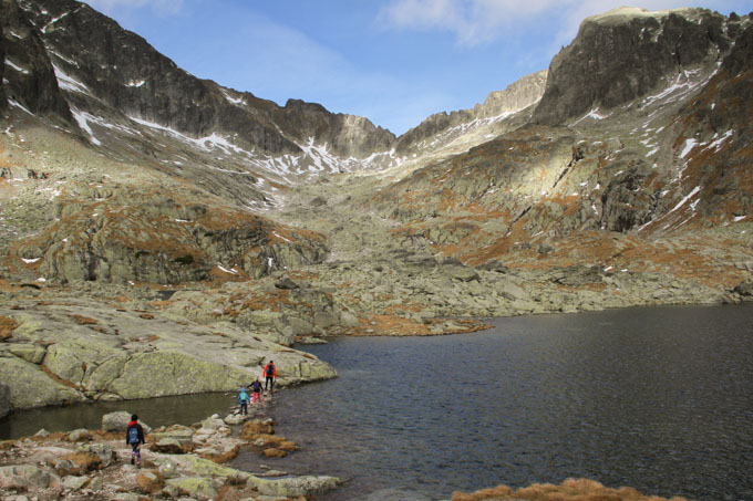 Walking among the lakes behind Teryho chata in the Slovak High Tatras