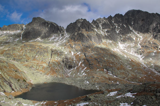 A lake behind Teryho chata (chalet) in the Slovak High Tatras