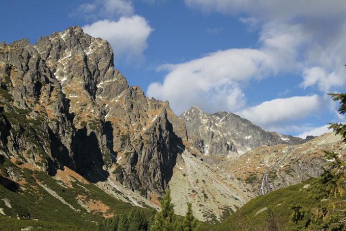 Prostredny hrot mountain at the end of Mala Studena dolina in the High Tatras of Slovakia