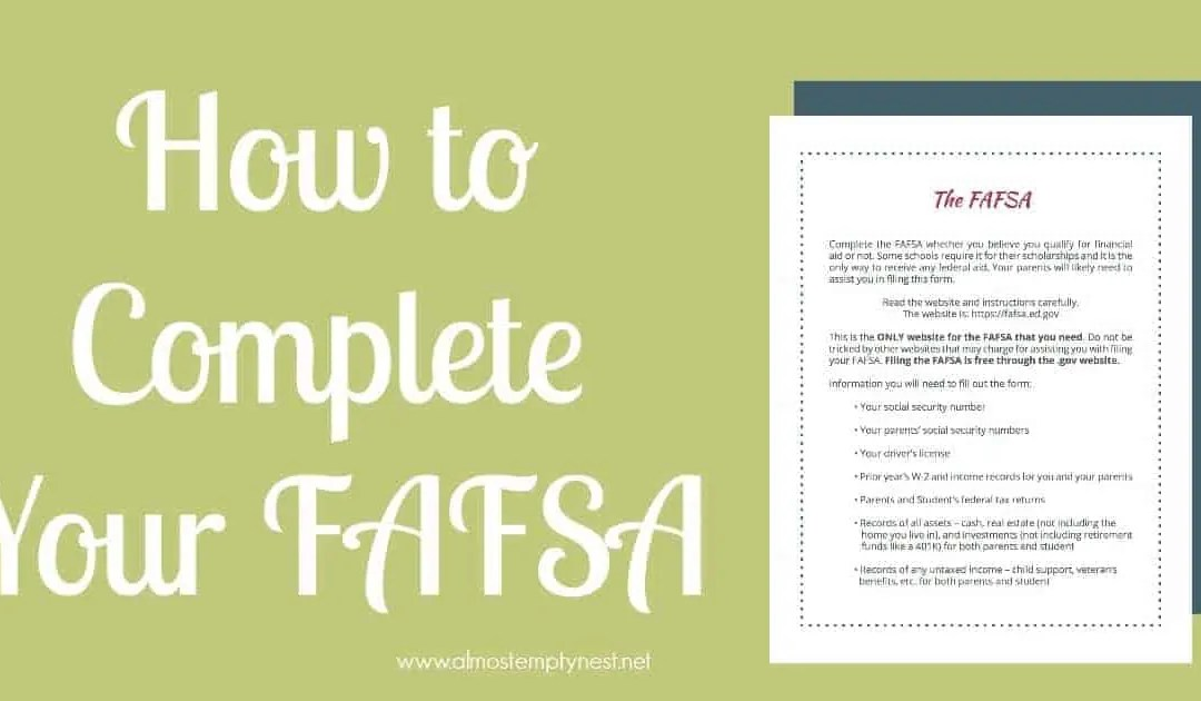 How to Complete Your FAFSA