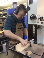 This is the indexing jig being used on the band saw.