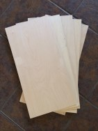 "1/8"" plywood sheets bought at the hobby shop to make the shingles."