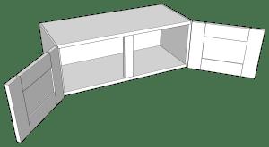 Goat Ranch 2-Door (short) Wall Cabinet