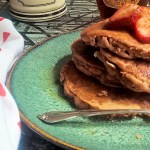 Coconut Strawberry Pancakes