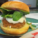 Sweet Potato Burgers with Garlic Goat Cheese Aioli