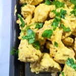 Roasted Cauliflower in Curry Yogurt Sauce
