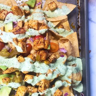 Incredible Loaded Vegan Nachos with Vegan Queso