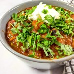 Andrew's Sweet Potato Chili with Harissa