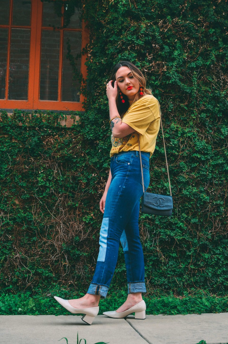 Yellow Vintage Tee Jeans